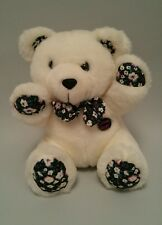"""Glamour Shots Teddy Bear -  Plush White with Bow Tie - 9"""" Tall"""