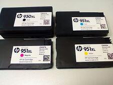 4 CARTUCCE ORIGINALI HP 950 XL 951 XL per la stampante Pro 8610 8620 8630 8600 Set
