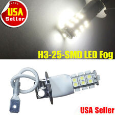 1x H3 LED Light Bulb 3528 25-SMD For Vehicle Car Xenon White Fog Driving DRL 12V