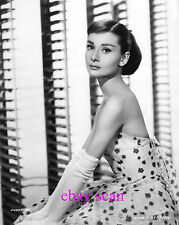 "AUDREY HEPBURN 8X10 Photo '57 ""FUNNY FACE"" Glamour Gown Adorable Doll Portrait"