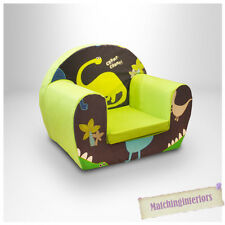Dinosaurs Blue Childrens Kids Comfy Foam Chair Toddlers Armchair Seat Boys Chair