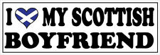 I LOVE MY SCOTTISH BOYFRIEND - Scotland / Novelty Vinyl Sticker 24cm x 11cm
