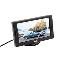 "4.3"" TFT LCD Car Monitor Reverse Rearview Color Camera DVD VCR CCTV Backlight OE"
