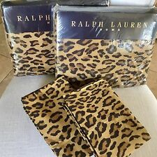 RARE RALPH LAUREN ARAGON LEOPARD QUEEN 4PC SHEET SET~NIP 1ST FREE SHIP