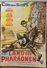 LAND DER PHARAONEN | Original Filmplakat Warner Bros. | Joan Collins