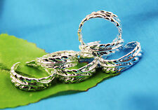 wholesale lots 10PCS  Silver leaves Design toe rings Adjustable Y188