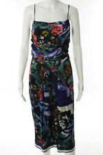 Alberta Ferretti Multi-Color Abstract Print Sheath Dress Size 8