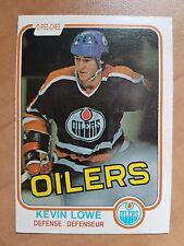 KEVIN LOWE 1981-82 O-Pee-Chee ROOKIE #117 OPC Edmonton Oilers RC