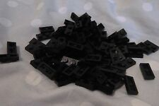 Lego Plates 1 x 2 Ref 3023 in Black x 100pcs