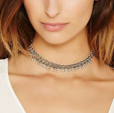 Fashion Vintage Alloy Jewelry Choker Chunky Statement Bib Pendant Chain Necklace