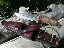 BUSSE Combat HELL RAZOR  knife HellRazor competition finish SAVAGE custom sheath