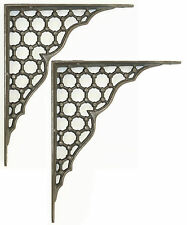 "Pair 10""/ 25cm Large Cast Iron Victorian Antique Honeycomb Wall Shelf Brackets"