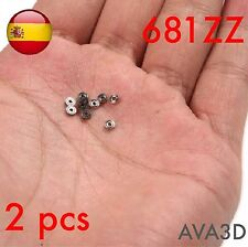 2 pcs 681zz 681 zz 1x3x1 mm 1*3*1 Mini micro rodamiento bearing DIY roller