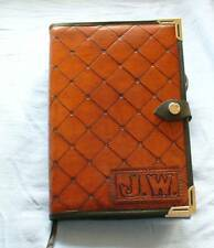 HAND CRAFTED EMBOSSED LEATHER DIARY / JOURNAL / NOTEBOOK / ADDRESS BOOK COVER