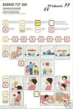 Safety Card - Air Liberte - B737 300 (France) (S3391)