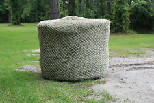 Slow Horse Hay Round Bale Net Feeder Save $$ Eliminates Waste Fits 4' x 5' Bales