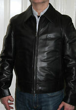 HUGO BOSS CLATO BLACK LEATHER MOTORCYCLE STYLE JACKET *IMMACULATE CONDITION*