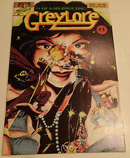 GREYLORE #1 of a 6 Issue Epic! 1986 Sirius Comics