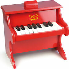 Vilac RED PIANO WITH SCORES Toddler/Child Music Instrument Wooden Toy Song BN