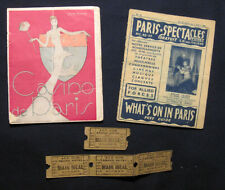 2 BOOKLETS ON THE PARIS NIGHT LIFE, MARCH 28-APRIL 3,1945, & 4 MEAL TICKETS...