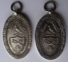 TWO SCOTTISH FORFAR ROBERT BURNS CLUB STERLING SILVER MEDALS, c1930 & 1931