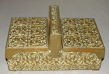 Beautiful Antique German Hand Hammered Tobacco / Cigarette Brass Box