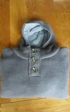 Mens designer firetrap hooded chunky knitwear size xl colour grey sale cheap