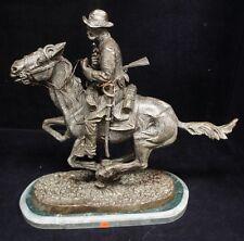 Fredric Remington Vintage Bronze Trooper of the Plains 50lb Statue Wild West