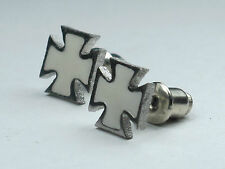1 Pair Men's Stainless Steel Cool Cross Stud Earring