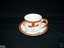 WESTERN JACKSON CHINA COFFEE CUP & SAUCER GUNS HAT
