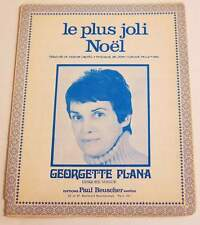 Partition vintage sheet music GEORGETTE PLANA : Le Plus Joli Noël * 60's