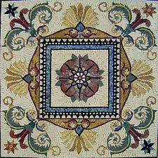 "32""x 32""  Beautiful Handmade Piece Of Art Home Wall Floor Decor Marble Mosaic"