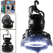 2-in-1 Portable 18 LED Tent Camping Light with Ceiling Fan Hiking Outdoor Latern