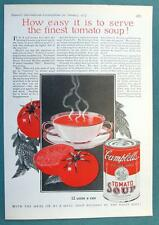 Original 1927 Campbell's Tomato Soup Ad HOW EASY TO SERVE FINEST TOMATO SOUP