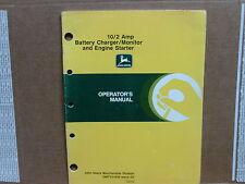 ORIGINAL! John Deere TY5161 10/2 Amp Battery Charger/ Monitor, operators manual.