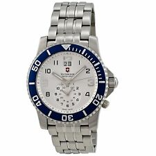 Victorinox Swiss Army Men's 241183 'Maverick II' Dual Time Stainless steel Watch