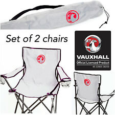 2 x Genuine Vauxhall Branded Portable Travel Camping Folding Directors Chairs