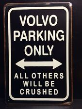 Volvo Parking Metal Sign / Vintage Garage Wall Decor (30 x 20cm)