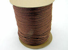 """NEW 5 YARDS DECORATIVE 1/8"""" TWISTED CORD TRIM ROPE THREAD BROWN"""