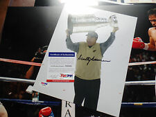 SCOTTY BOWMAN PSA/DNA COA SIGNED victorious RED WINGS coach 8X10 AUTOGRAPH auto