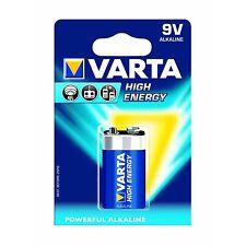 Varta High Energy 9 Volt 9V PP3 6LR61 Alkaline Battery 1-Pack