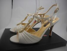 Nina Shoes Size 9 M New Womens Vianey Ivory Luster Open Toe Sandals