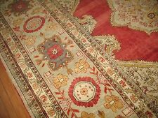Antique Turkish Ushak Oushak Sivas Herekeh Amristar Fine Rug Size 11'7''X11'11''