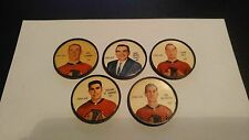 5 1961-62 Salada/Shirriff Hockey # 23, 24, 29, 25, 40 Chicago Blackhawks