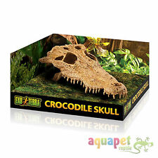 Exo Terra Crocodile Skull Hide-Out Reptile Ornament