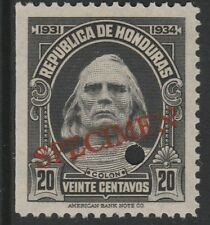 Honduras (1381) - 1931 Columbus 20c FILE COPY SPECIMEN unmounted mint