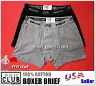 Lot 2 New PROCLUB GRAY & BLACK mens underwear boxer briefs shorts PRO CLUB S-7XL