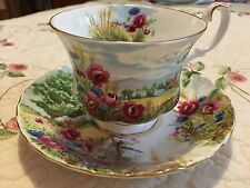 """Vintage Royal Albert Country Scenes """"Harvest Song"""" Bone China Cup & Saucer"""