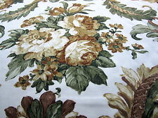 17m Vintage Sanderson PORITO Upholstery Fabric Floral Green Yellow Cotton Sateen