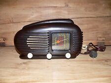 TESLA TALISMAN 308U Streamline Bakelite Tube Radio Made in Czechoslovakia 1950s